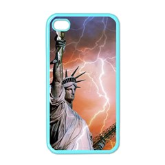 Statue Of Liberty New York Apple Iphone 4 Case (color) by Nexatart