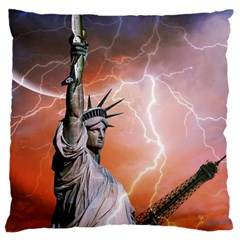 Statue Of Liberty New York Large Cushion Case (two Sides) by Nexatart