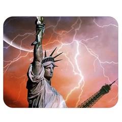 Statue Of Liberty New York Double Sided Flano Blanket (medium)  by Nexatart