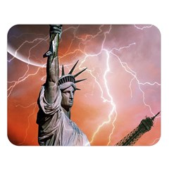 Statue Of Liberty New York Double Sided Flano Blanket (large)  by Nexatart