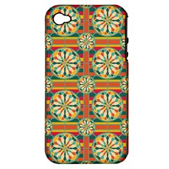 Eye Catching Pattern Apple Iphone 4/4s Hardshell Case (pc+silicone) by linceazul