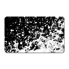 Black And White Splash Texture Magnet (rectangular) by dflcprints