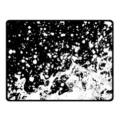 Black And White Splash Texture Double Sided Fleece Blanket (small)  by dflcprints
