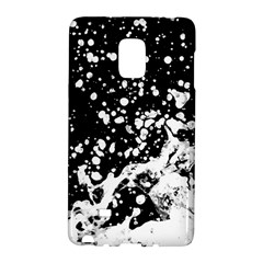 Black And White Splash Texture Galaxy Note Edge by dflcprints