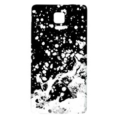 Black And White Splash Texture Galaxy Note 4 Back Case by dflcprints