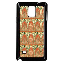 Arcs Pattern Samsung Galaxy Note 4 Case (black) by linceazul