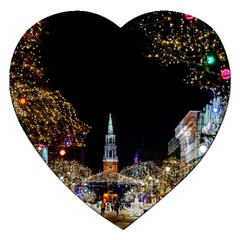 Church Decoration Night Jigsaw Puzzle (heart) by Nexatart