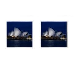 Landmark Sydney Opera House Cufflinks (square) by Nexatart