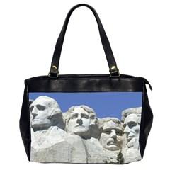 Mount Rushmore Monument Landmark Office Handbags (2 Sides)  by Nexatart