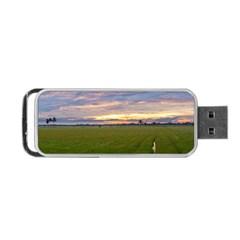 Landscape Sunset Sky Sun Alpha Portable Usb Flash (one Side) by Nexatart