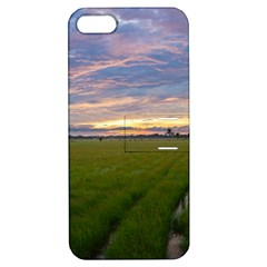 Landscape Sunset Sky Sun Alpha Apple Iphone 5 Hardshell Case With Stand by Nexatart