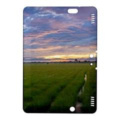 Landscape Sunset Sky Sun Alpha Kindle Fire Hdx 8 9  Hardshell Case by Nexatart