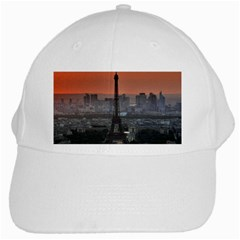 Paris France French Eiffel Tower White Cap by Nexatart