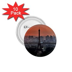 Paris France French Eiffel Tower 1 75  Buttons (10 Pack)