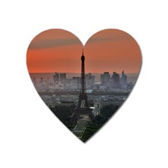 Paris France French Eiffel Tower Heart Magnet by Nexatart