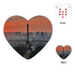 Paris France French Eiffel Tower Playing Cards (heart)  by Nexatart