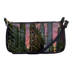 Flat Iron Building Toronto Ontario Shoulder Clutch Bags by Nexatart