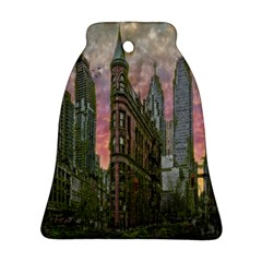 Flat Iron Building Toronto Ontario Ornament (bell) by Nexatart