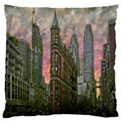 Flat Iron Building Toronto Ontario Large Flano Cushion Case (two Sides) by Nexatart