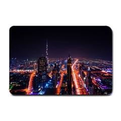 Dubai Cityscape Emirates Travel Small Doormat  by Nexatart