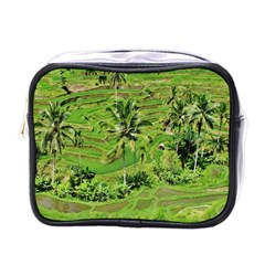 Greenery Paddy Fields Rice Crops Mini Toiletries Bags by Nexatart