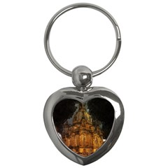 Dresden Frauenkirche Church Saxony Key Chains (heart)  by Nexatart