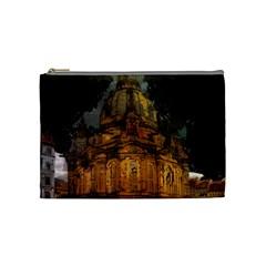 Dresden Frauenkirche Church Saxony Cosmetic Bag (medium)  by Nexatart