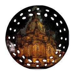 Dresden Frauenkirche Church Saxony Round Filigree Ornament (two Sides) by Nexatart