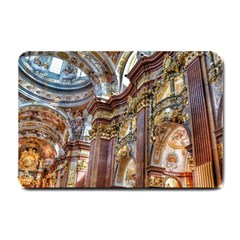 Baroque Church Collegiate Church Small Doormat  by Nexatart