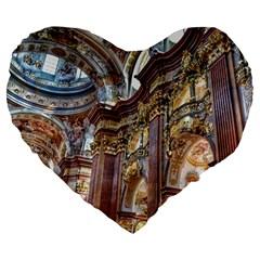 Baroque Church Collegiate Church Large 19  Premium Flano Heart Shape Cushions by Nexatart