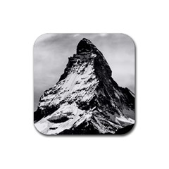 Matterhorn Switzerland Mountain Rubber Square Coaster (4 Pack)  by Nexatart