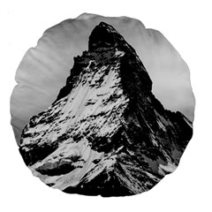 Matterhorn Switzerland Mountain Large 18  Premium Flano Round Cushions by Nexatart