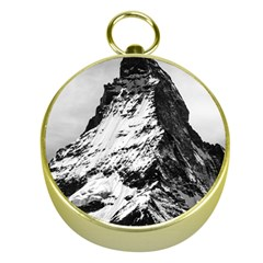 Matterhorn Switzerland Mountain Gold Compasses by Nexatart