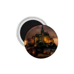 Mont St Michel Sunset Island Church 1 75  Magnets by Nexatart