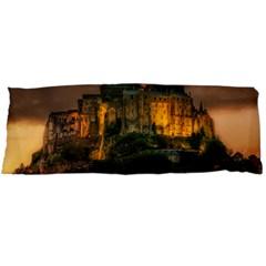 Mont St Michel Sunset Island Church Body Pillow Case (dakimakura) by Nexatart