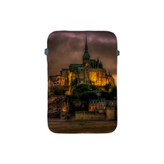 Mont St Michel Sunset Island Church Apple Ipad Mini Protective Soft Cases by Nexatart