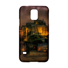 Mont St Michel Sunset Island Church Samsung Galaxy S5 Hardshell Case  by Nexatart