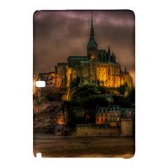 Mont St Michel Sunset Island Church Samsung Galaxy Tab Pro 12 2 Hardshell Case by Nexatart