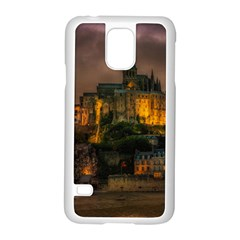 Mont St Michel Sunset Island Church Samsung Galaxy S5 Case (white) by Nexatart
