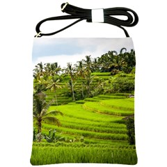 Rice Terrace Terraces Shoulder Sling Bags by Nexatart