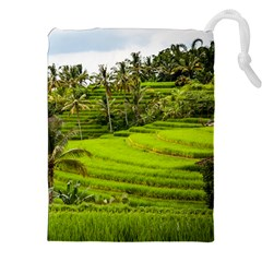 Rice Terrace Terraces Drawstring Pouches (xxl) by Nexatart