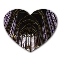 Sainte Chapelle Paris Stained Glass Heart Mousepads by Nexatart