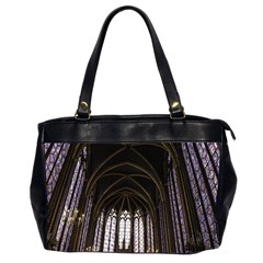 Sainte Chapelle Paris Stained Glass Office Handbags (2 Sides)  by Nexatart