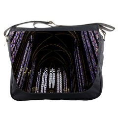 Sainte Chapelle Paris Stained Glass Messenger Bags by Nexatart
