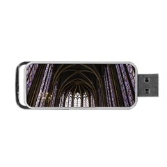 Sainte Chapelle Paris Stained Glass Portable Usb Flash (two Sides) by Nexatart