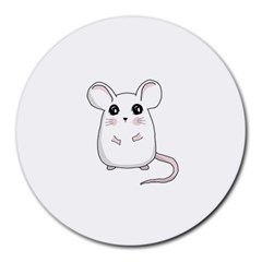 Cute Mouse Round Mousepads by Valentinaart