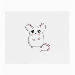 Cute Mouse Small Glasses Cloth by Valentinaart