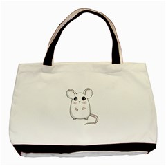 Cute Mouse Basic Tote Bag (two Sides) by Valentinaart