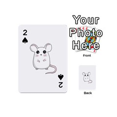 Cute Mouse Playing Cards 54 (mini)  by Valentinaart