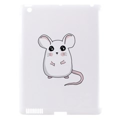 Cute Mouse Apple Ipad 3/4 Hardshell Case (compatible With Smart Cover) by Valentinaart